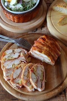Ananászos-sonkás rakott csirkemell recept