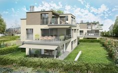 Lerch und Partner AG + CSL Immobilien AG Rosengarten - Zollikerberg 3d Modellierung, Mansions, House Styles, Home Decor, Roses Garden, Real Estates, Architecture, Photo Illustration, Decoration Home