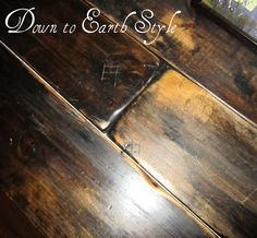 Down to Earth Style: Recycled Decor 1x8's painted & distressed as table top. Flooring would be amazing, too.