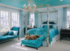 Chaise in a bedroom