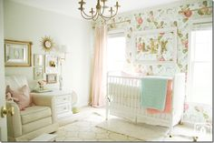 nurser- love the wallpaper