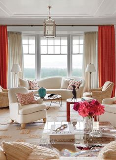 luxurydecor livingroomideas Modern living room Modern living room style in white and orange with coastal feel and contemporary home accessories luxur… Living Room orange Fashion Room, Modern Room, Living Room Modern, Hamptons House, Living Room Orange, Living Room Style, Home Decor, Contemporary House, Farmhouse Side Table