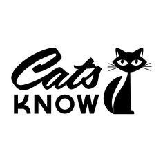 Cats in Art, Illustration and Graphic Design: Cats Know Crazy Cat Lady, Crazy Cats, Cool Cats, I Love Cats, Neko, Black Cat Art, Black Cats, Cat Signs, Cat Quotes