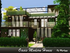 Elegant modern house built on 30x20 lot in Oasis Springs.  Found in TSR Category 'Sims 4 Residential Lots'