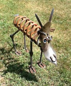 Bob the old goat! Made from old farm machinery, car parts, etc.
