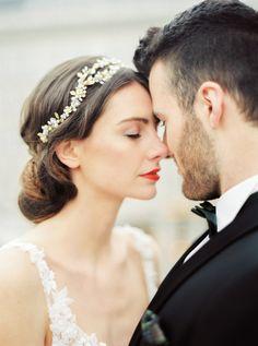 Wedding Dress: Eva Poleschinski - http://www.stylemepretty.com/portfolio/eva-poleschinski Hair + Makeup: Gilbird - http://www.stylemepretty.com/portfolio/gilbird Photography: Melanie Nedelko Photography - www.melanienedelko.com   Read More on SMP: http://www.stylemepretty.com/destination-weddings/2016/08/30/say-yes-in-vienna-with-this-luxury-styled-shoot-in-imperial-vienna-austria/