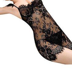 Oferta: 6.45€. Comprar Ofertas de Lencería Mujer, Amlaiworld Ropa interior de encaje ropa de dormir ropa de dormir G-String vestido (L, Negro) barato. ¡Mira las ofertas!