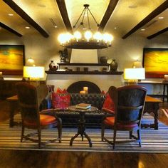 The beautiful lobby at the Wigwam Resort