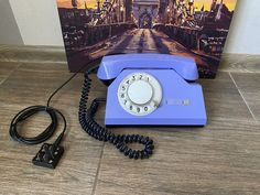 Vintage Purple phone, Old rotary phone, Lilac phone, Circle dial rotary phone, Vintage landline phone, Old Dial Desk Phone, Purple phone Ground Service, Pay Attention To Me, Retro Phone, Vintage Phones, Electronic Items, Lilac, Purple, Cutlery Set, Rotary