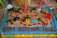 Treasure Map Cake-Pirate Party