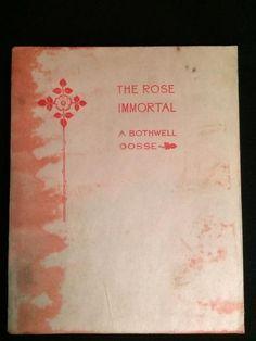 1923 OCCULT SYMBOLISM OF THE ROSE MYSTIC IMMORTAL FREEMASON SPIRITUAL MYTHOLOGY