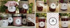Imprimibles gratis: Etiquetas para conservas caseras Vanilla Shop, Pasta Casera, Food Branding, Wedding 2015, Chutney, Liquor, Decoupage, Raspberry, Gift Wrapping