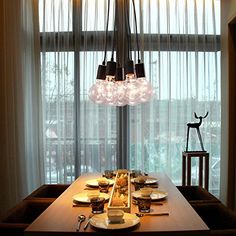 OOFAY LIGHT Lampadario pendente, dal design minimalista con 7 luci, 40W E27: Amazon.it: Illuminazione