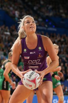 Gretel Tippett of the Firebirds looks to shoot the ball during the round 12 Super Netball match between the Fever and the Firebirds at Perth Arena on July 2018 in Perth, Australia. Netball, New South, Greys Anatomy, Perth Australia, Workout, Cricket, Sports, Woman, Life
