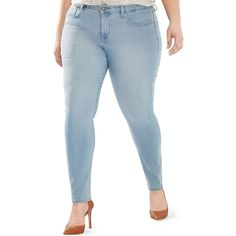 Levi's Plus Size 311 Shaping Skinny Jeans Love Story Wash ($55) ❤ liked on Polyvore