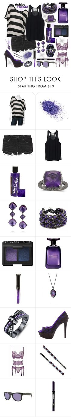 """Amethyst Night"" by ashleythesm ❤ liked on Polyvore featuring rag & bone/KNIT, Napoleon Perdis, Ksubi, 3.1 Phillip Lim, Manic Panic NYC, Larkspur & Hawk, Fantasy Jewelry Box, NARS Cosmetics, Narciso Rodriguez and Barzel"