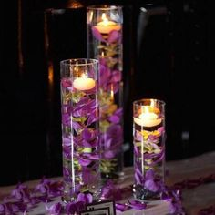 2019 Brides Favorite Purple Wedding Colors---floating candle wedding centerpieces for vintage dinner party, diy wedding reception table decorations Mod Wedding, Floral Wedding, Fall Wedding, Wedding Bouquets, Dream Wedding, Trendy Wedding, Wedding Ideas Purple, Elegant Wedding, Wedding Favors