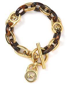 Michael Kors MK Tortoise Shell Link Bracelet | Bloomingdale's