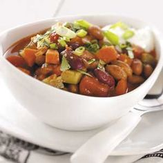 Hearty Meatless Chili Recipe    Friends and family will gobble up this quick and easy meatless chili.