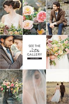 Natural Inspired Wedding Ideas captured by Erich McVey for his Bend workshop.