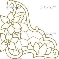 Diddybag Set 11737 - Semi Exc Poinsettia Cutwork Collection