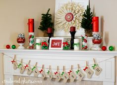 DIY Home Decor Dollar Store | Christmas Mantel Decor 2012 — Creations by Kara