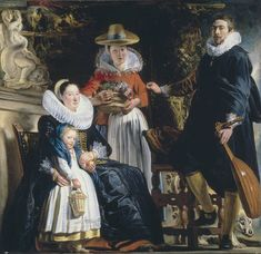 1622 Jacob Jordaens (1593-1678) Perhaps a Self Portrait with Family