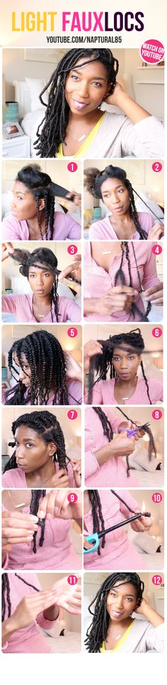 Natural Hairstyles, Naptural85, Faux Locs, Temporary Loc Extensions, Protective Styles, Natural Hair