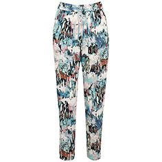 Buy French Connection Isla Ripple Trousers, Day Dream/Multi from our Women's Trousers & Leggings range at John Lewis & Partners. Waterford Ireland, Harem Pants, Pajama Pants, French Connection, Trousers Women, Gladiator Sandals, Soft Fabrics, Fashion Forward, Boutique