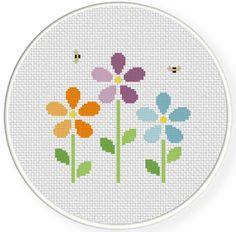 cross stitch flower   Bunch Of Flowers Cross Stitch Illustration