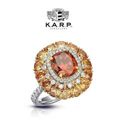 K.A.R.P. Jewel. The ever elegant vibrant Feng Huang fancy colour diamond ring!