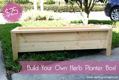 DIY Herb Planter Box -- $25 :: Hometalk