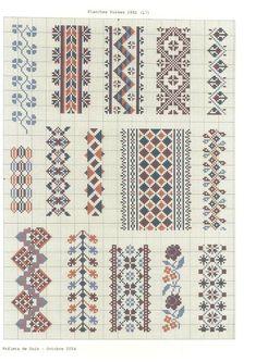 Counted Cross Stitch Design: B Cross Stitch Art, Cross Stitch Borders, Cross Stitch Designs, Cross Stitching, Cross Stitch Patterns, Blackwork Embroidery, Folk Embroidery, Cross Stitch Embroidery, Embroidery Patterns