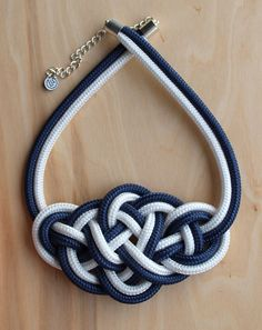 Sailor knotted necklace Rope necklace Knotted jewelry