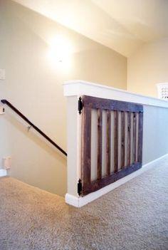 Custom Baby/Dog Gate DIY Baby Gate stained in Minwax Dark Walnut by lgenovesi87