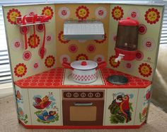 Vintage Western Germany Toy Tin Kitchen made  by by LisaAnn86, $65.00