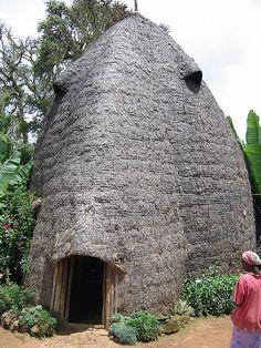 Dorze village hut . Ethiopia