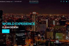 Business Technology – One Page HTML. Bootstrap Templates. $10.00
