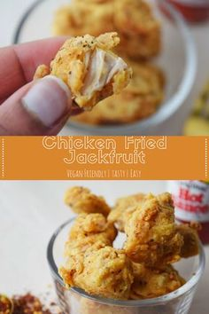 Chicken Fried Jackfruit Chicken Fried Crispy easy and tasty! Perfect as an appetizer or as part of a meal! The post Chicken Fried Jackfruit appeared first on Vegan. Gourmet Recipes, Whole Food Recipes, Vegetarian Recipes, Cooking Recipes, Healthy Recipes, Vegan Chicken Recipes, Diet Recipes, Vegan Chicken Nuggets, Vegan Meals