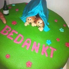 cake theme: camping