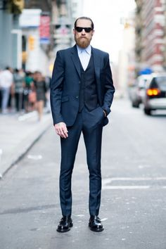 Justin O'Shea Three Piece Suit & double monks
