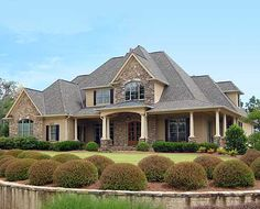 Plan W24356TW: Southern, Photo Gallery, European, Corner Lot, Traditional House Plans & Home Designs  I like the exterior colors