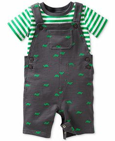 Carter's Baby Boys' 2-Piece T-shirt & Turtle Overalls Set