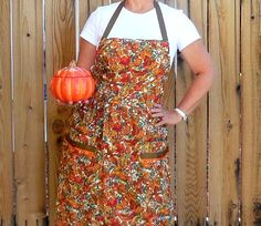 Fall is when I get my crockpot fired up in a serious way!!!  ApronWomans Fall Colors Full Kitchen by SusiesTieOneOnAprons