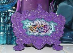 Antiqued Masquerade Splash Marble Glass Art by GlassByPriscilla