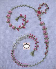 Embroidery Monogram Letter I Sample