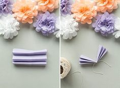 Wedding Paper Pom Poms