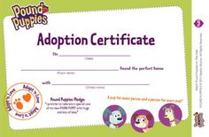 Printable Adoption Certificate Pound Puppies A Perfect Match Comes to DVD April 8, 2014 | SKGaleana