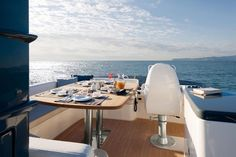 Flybridge on Blue By You, 50 Foot Azimut Magellano