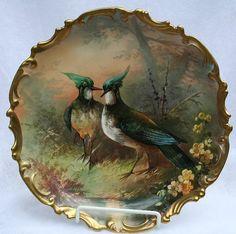 Limoges Plate of Birds wNatural Bkgrnd by tena_floyd, via Flickr